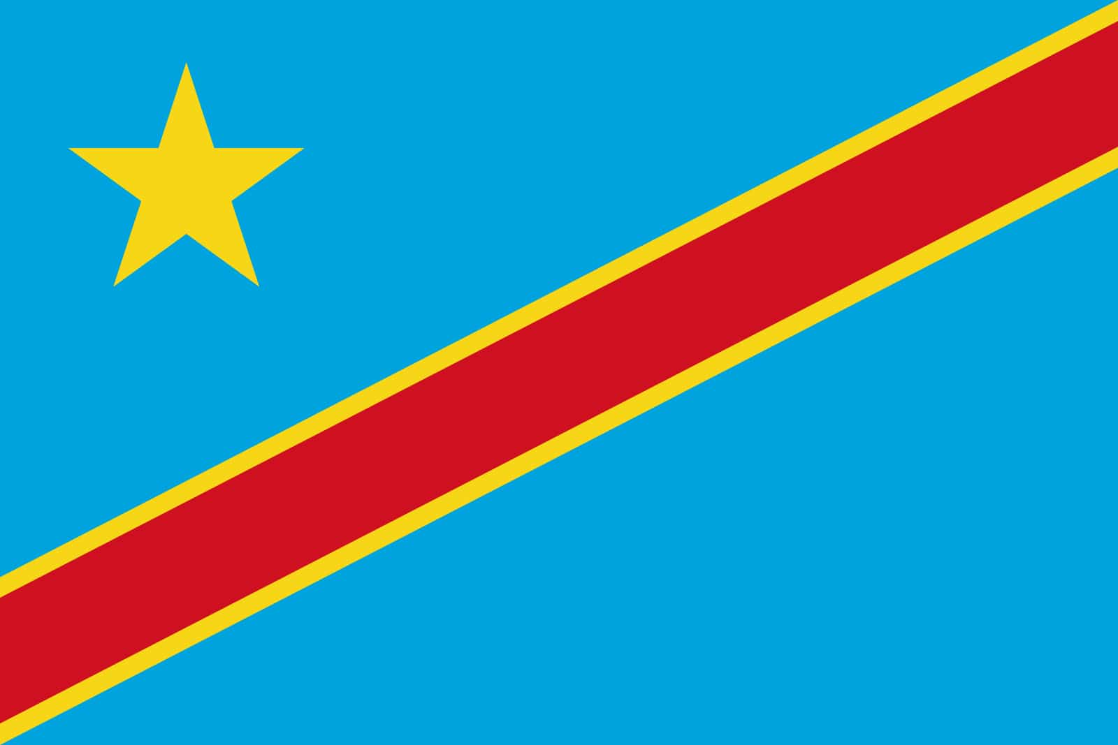 Flag Democratic Republic Of The Congo